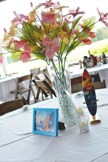 Themed wedding reception decor