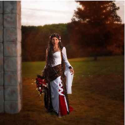 Ethnical long wedding dresses