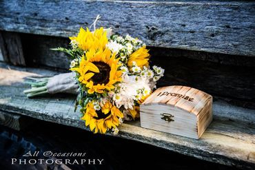 Yellow alternative wedding bouquet
