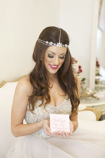 Ivory bridal hair and make-up