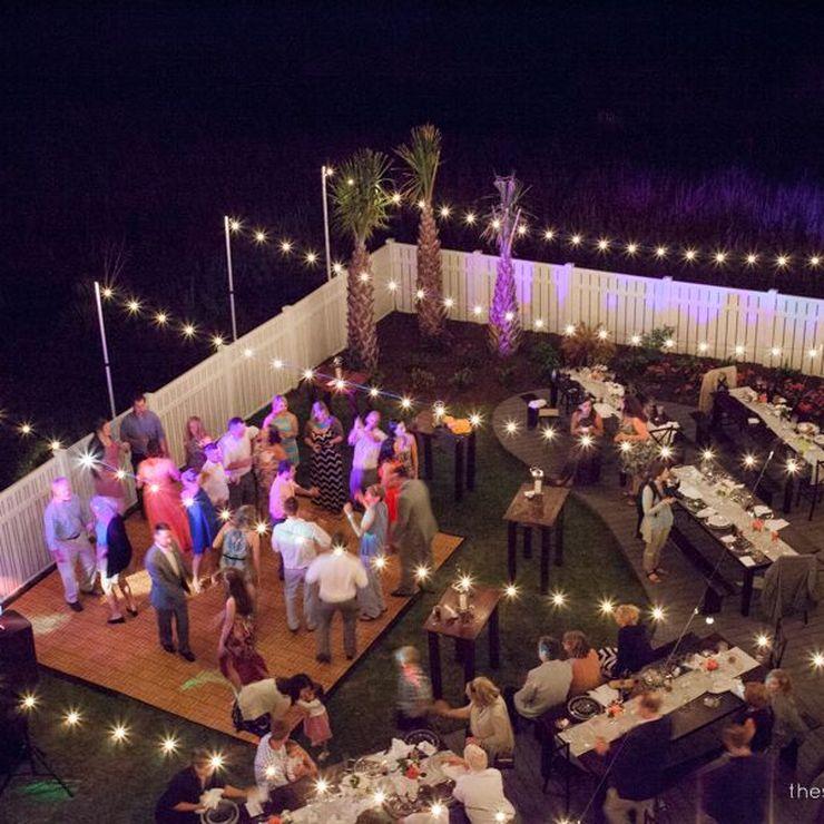 Ocean Isle Beach Wedding Lighting