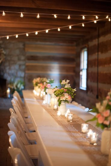 Rustic wedding floral decor