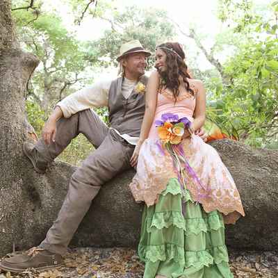 Themed pink wedding photo session ideas
