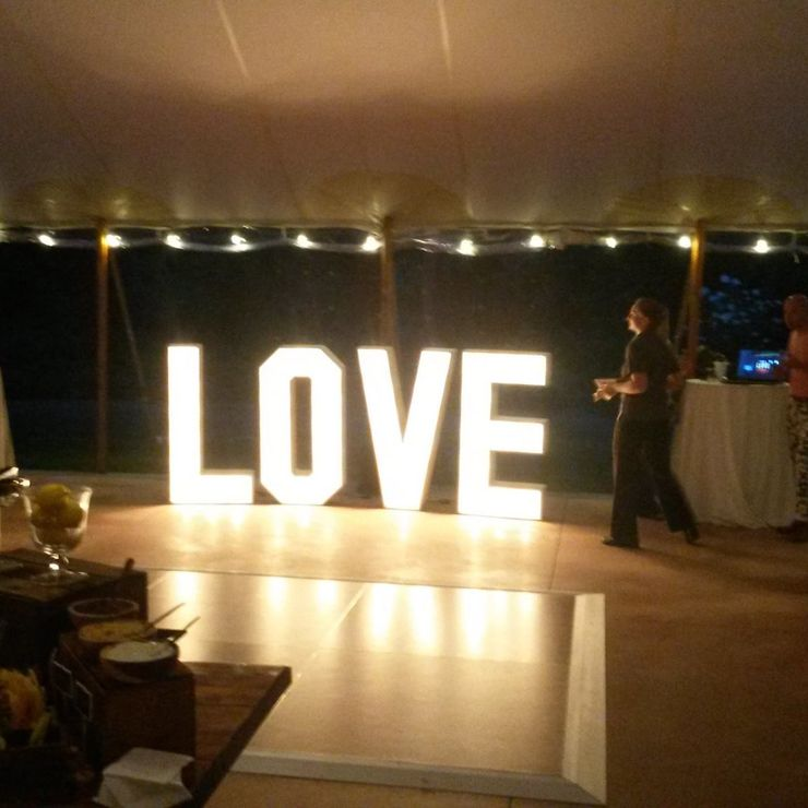 LOVE at a wedding open house