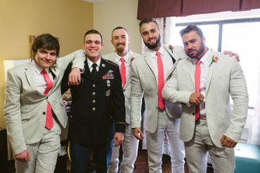 Pink wedding photo session ideas