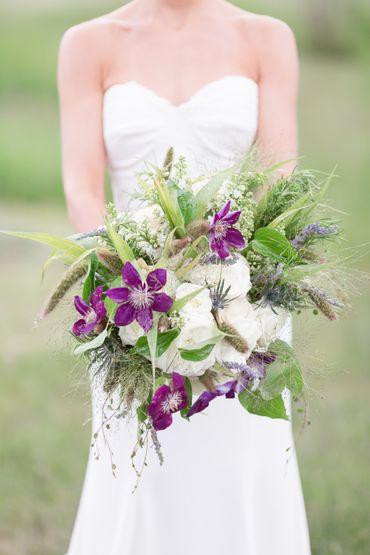 Purple alternative wedding bouquet
