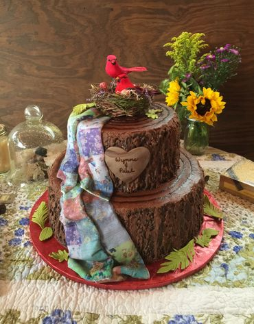 Rustic brown wedding cakes