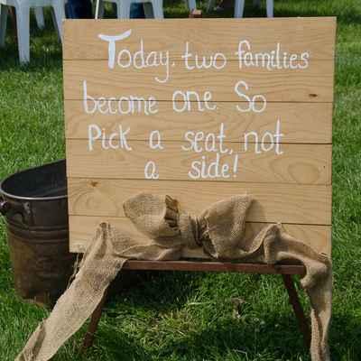 Wedding signs