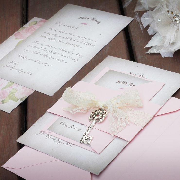 Vintage Lace Tea Party Wedding Invitation