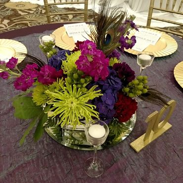 Themed wedding floral decor
