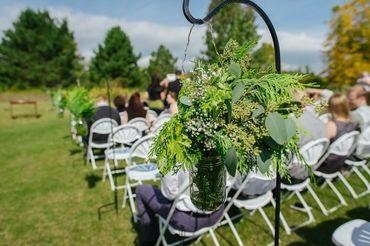 Green wedding floral decor