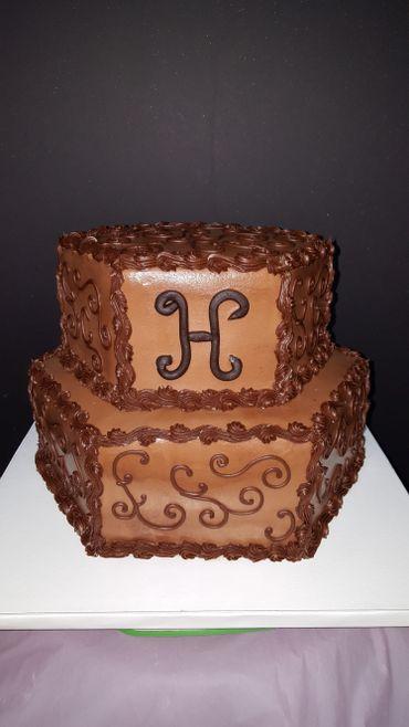 Brown wedding cakes