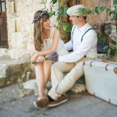 Rustic white short wedding dresses