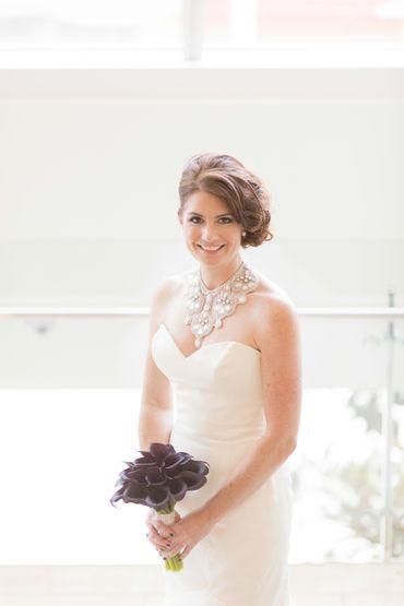 Purple calla wedding bouquet