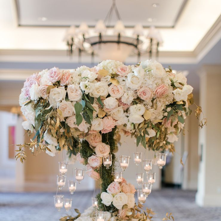 St Regis Blush and Gold Wedding