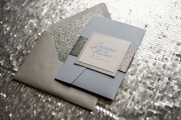 Grey wedding invitations