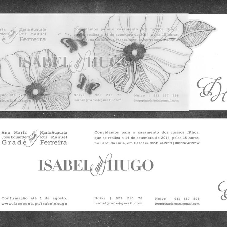 Isabel and Hugo's Wedding Stationary