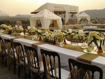 Ethnical wedding reception decor