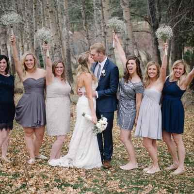 Outdoor autumn ivory long wedding dresses