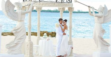 Beach white long wedding dresses