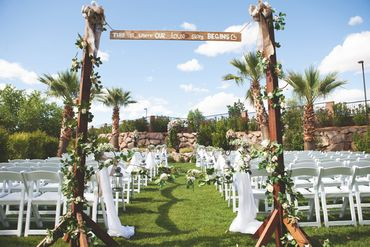 Outdoor wedding ceremony decor