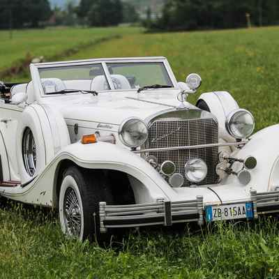 White wedding transport