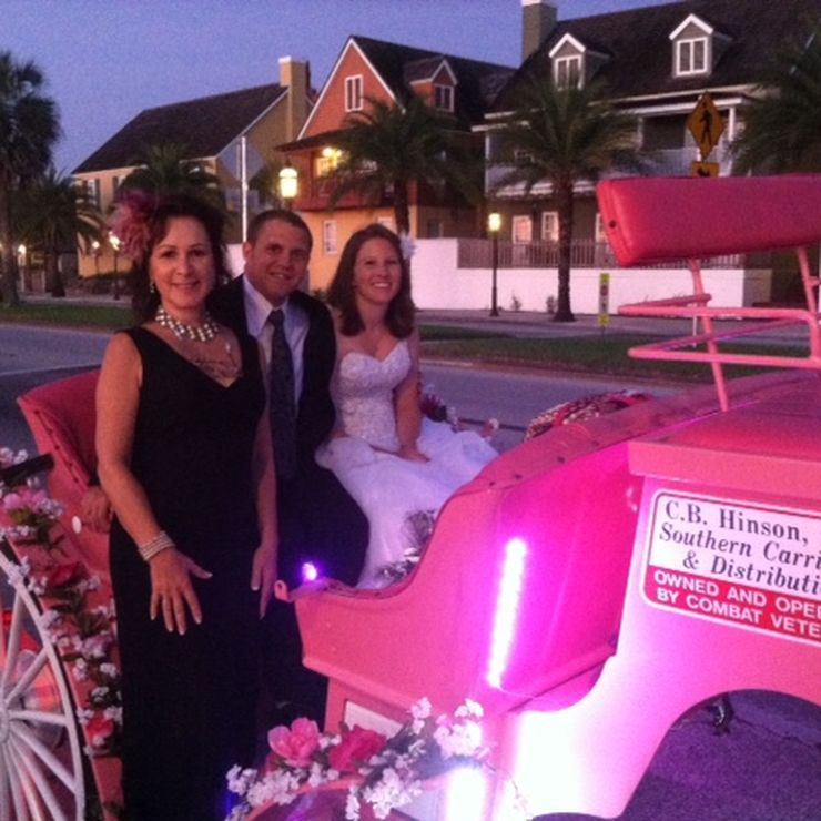 Horse & Buggy ~exchanging their vows in St Augustine FL