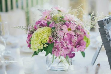 Overseas green wedding floral decor