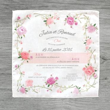 Vintage white wedding invitations