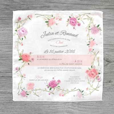 Vintage white wedding invitations