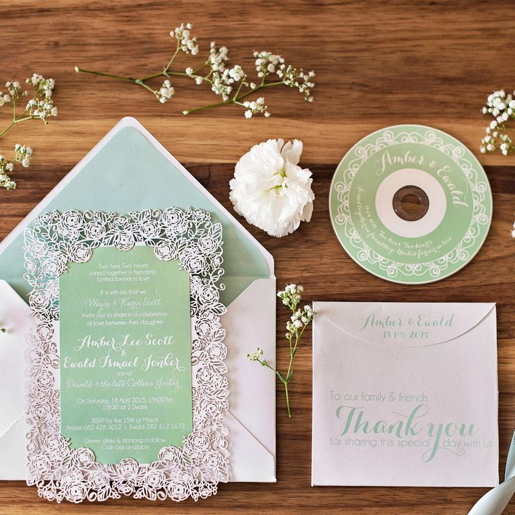 Amber & Ewald Wedding Invite