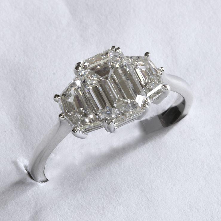 Passion Collection platinum 1.69ct EC center ring