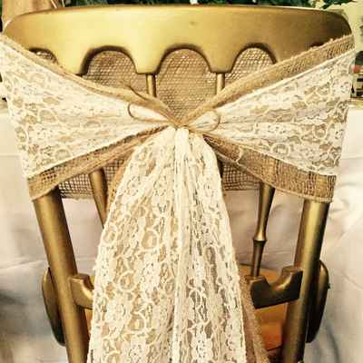 Ivory wedding reception decor