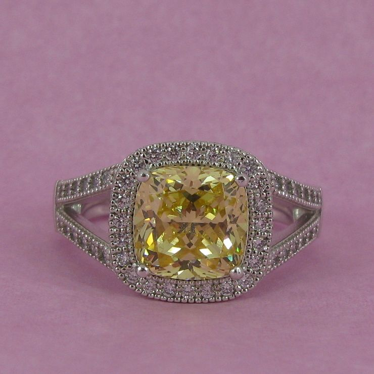 Bespoke Canary Yellow Diamond Ring