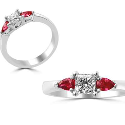 Red wedding rings