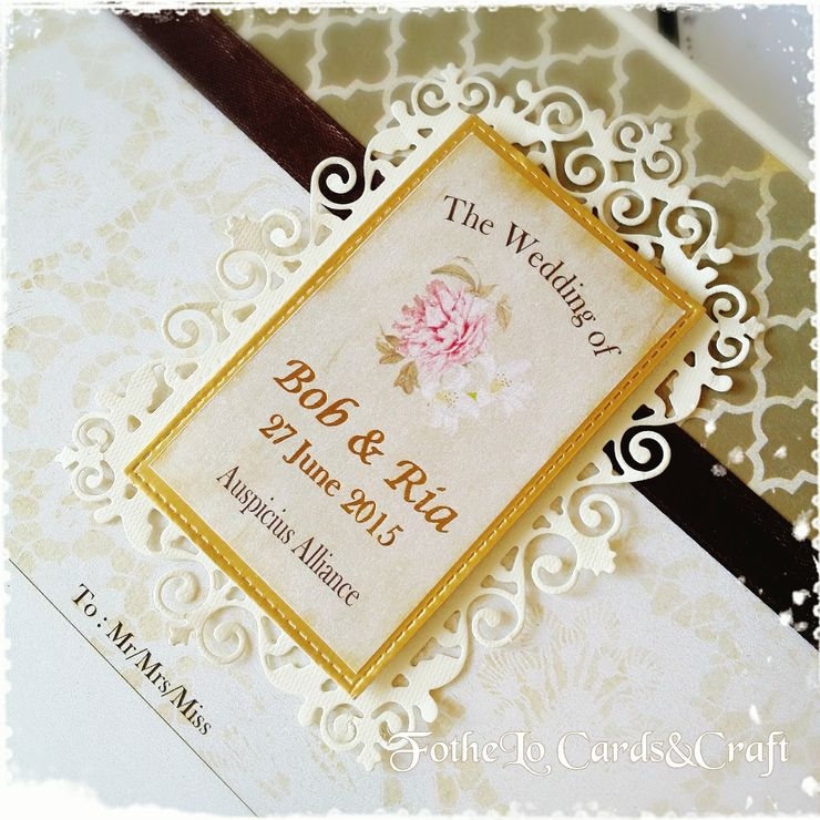 Bob & Ria Scrapbook Invitation