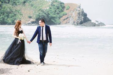 Beach blue long wedding dresses