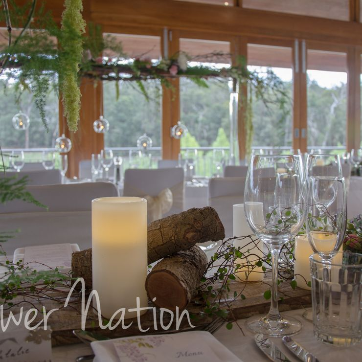 Elevated woodland tablescape
