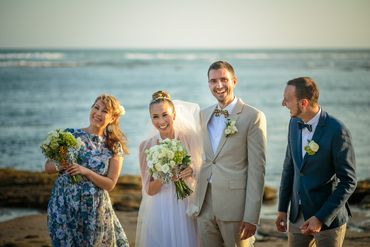 Beach white closed wedding dresses