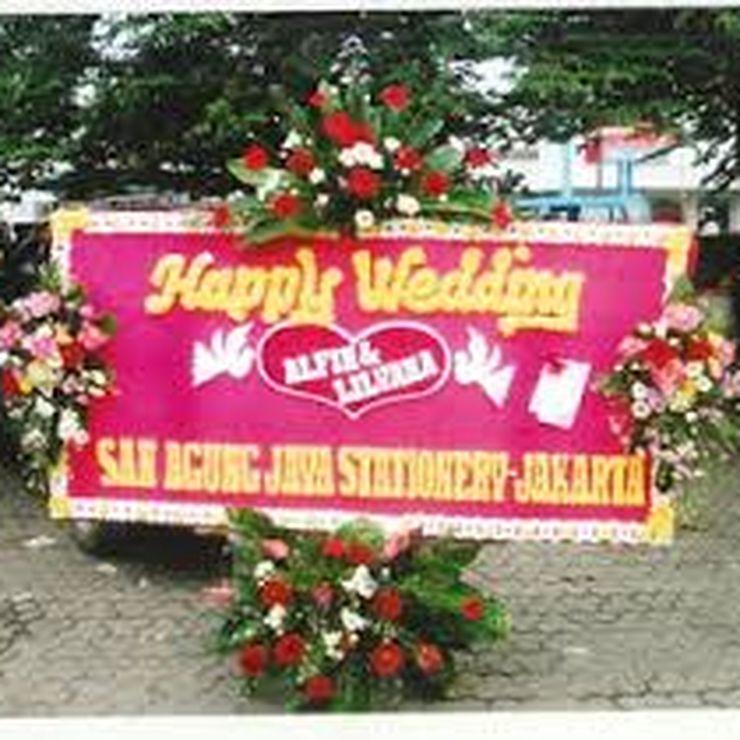 Aneka bunga pengantin dan bunga papan