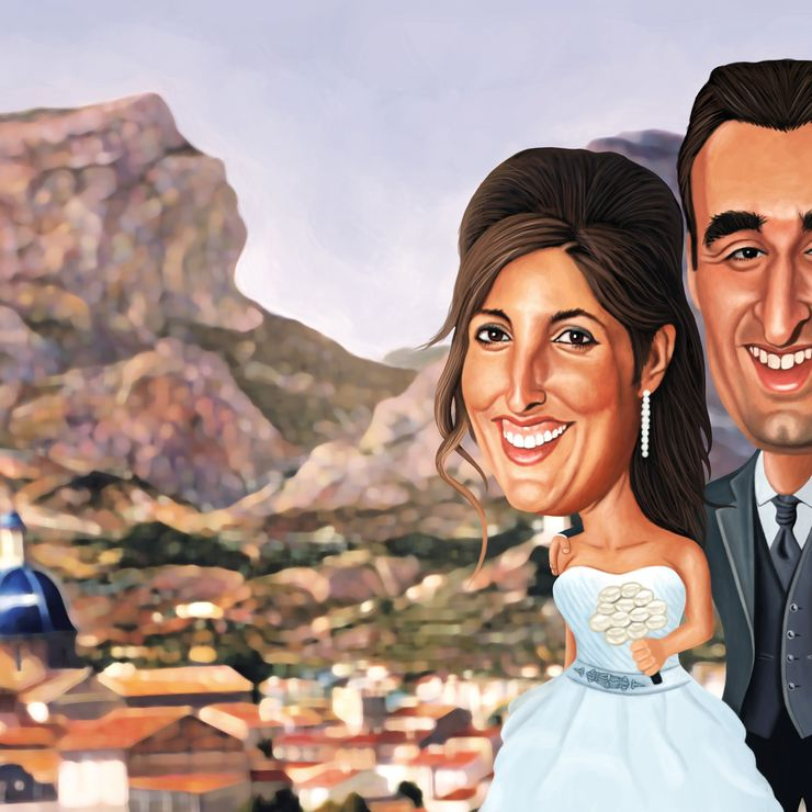 Caricatures for wedding invitations and photocall