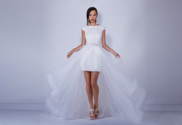 White short wedding dresses
