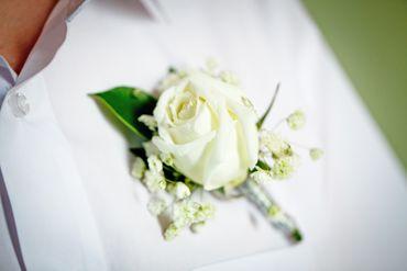 Ivory wedding buttonhole