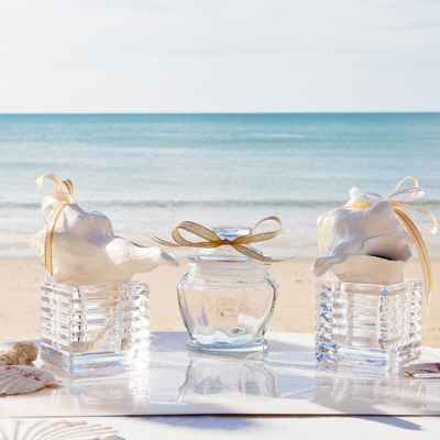 Beach wedding ceremony decor