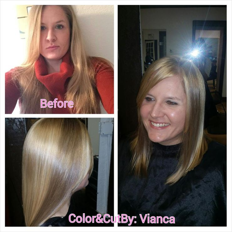 Hair color and haircut 2