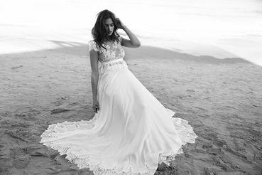 Beach long wedding dresses
