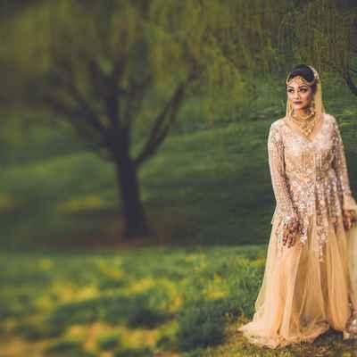 Ivory ethnical long wedding dresses