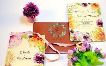 Yellow wedding invitations