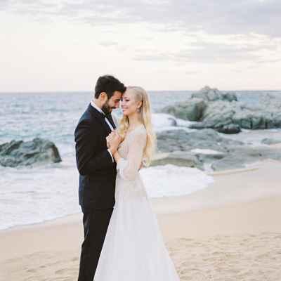 Ivory beach long wedding dresses