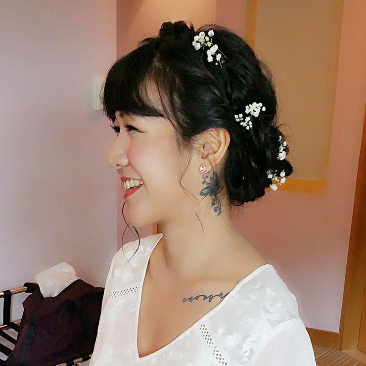 Wedding day makeup & hairstyling